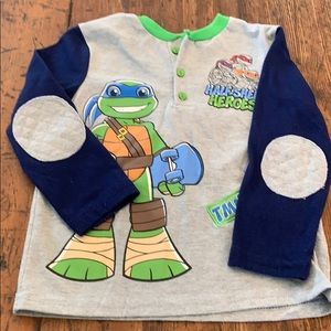 Other - Boys size 4t long sleeve shirt Ninja Turtle shirt